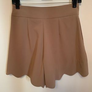 Brand New Scalloped Shorts seen on Emily Schuman